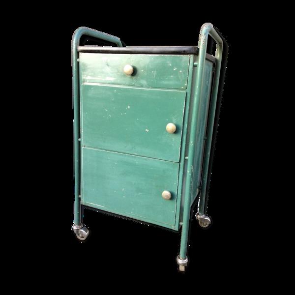Servante industrielle sur roulettes vintage