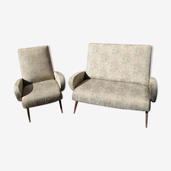 Canapé et fauteuil 1950