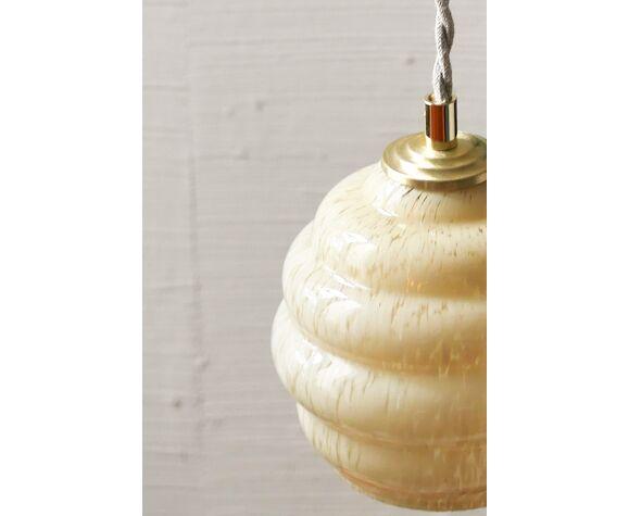 Paire de lampes baladeuses en verre de Clichy