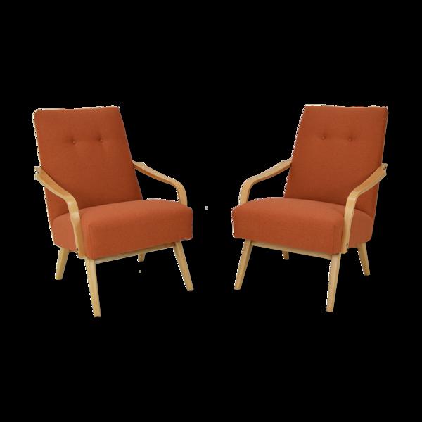Paire de fauteuils design années 1970