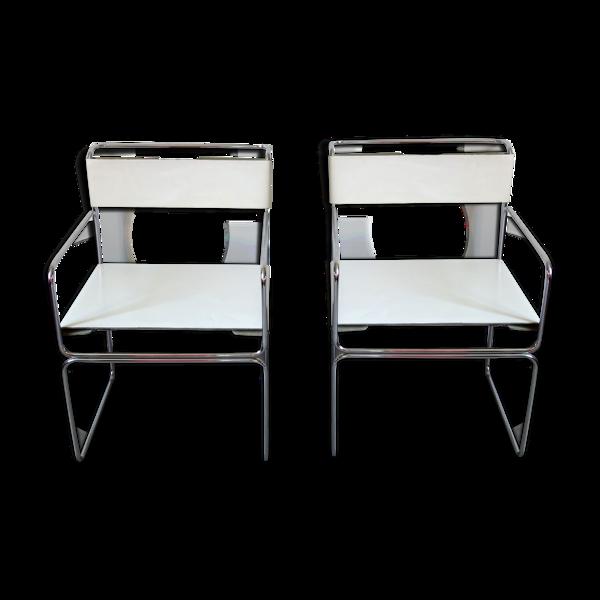 Paire de fauteuils Planula par Giovanni Carini