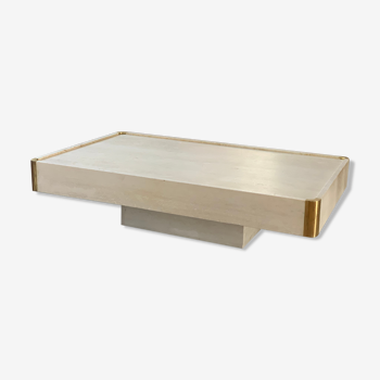 Table basse travertin Mario Sabot