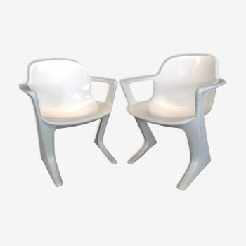 Paire de fauteuil Kangourou, Z Chair, Ernst Moeckl 1968
