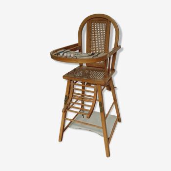 Chaise haute enfant baumann bébé art deco 1950