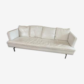 Canapé cuir blanc Cinna