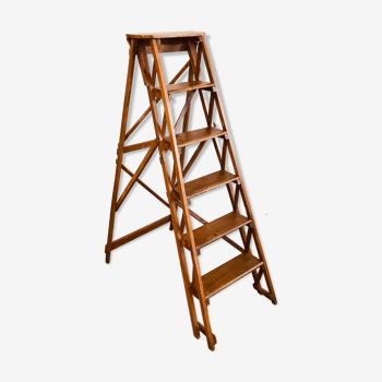 Wooden stepladder from the 1950s
