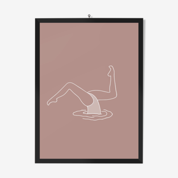 """Illustration """"Poussée barracuda"""" rose par Noums Atelier"""