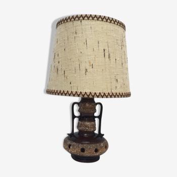 Lampe en céramique type scandinave années 70
