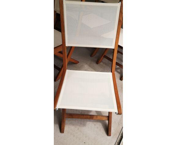 Lot de 6 chaises de jardin pliantes