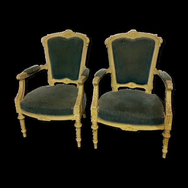 Paire de fauteuils style Louis XV