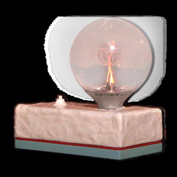 Lampe Memphis Milano style Post Modern Clay Base