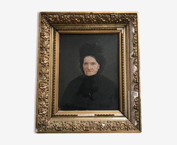 Portrait ancien signé