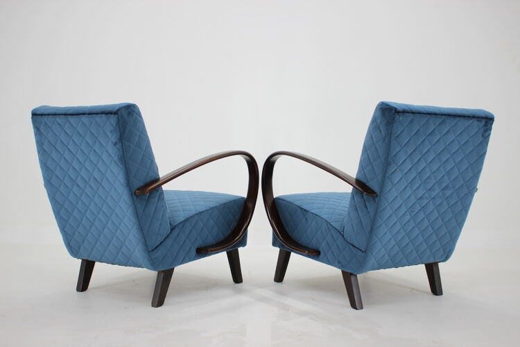 Paire de fauteuils de Jindrich Halabala, Tchécoslovaquie 1950