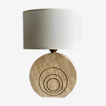 Lampe de table vintage en travertin  Fratelli  Manelli