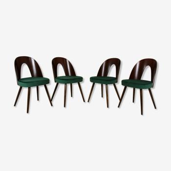 Ensemble de 4 chaises à manger d'Antonin Suman pour Tatra, années 1960