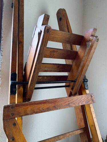 Former Slingsby wood workshop stepladder - 7 steps - english