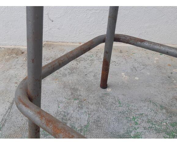 """Ancien tabouret haut industriel atelier """"etablissements sautereau"""""""