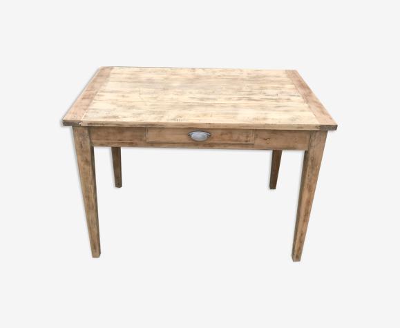 Table de ferme ancienne poignée coquille