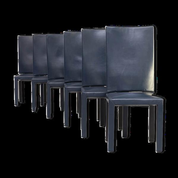 Lot de 6 chaises 'arcadia' de Paolo Piva éditées par B&B Italia 1990