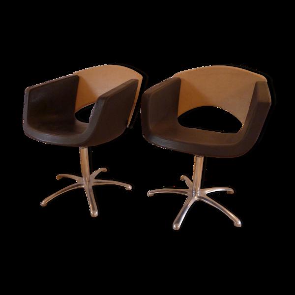Fauteuils pivotants design de coiffeur ou bureau marque Karisma