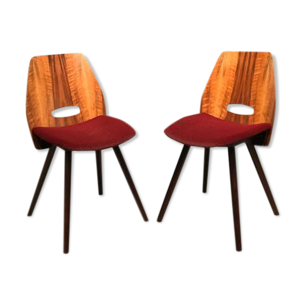 Paire de fauteuils par F. Jirak Tatra Nabytok