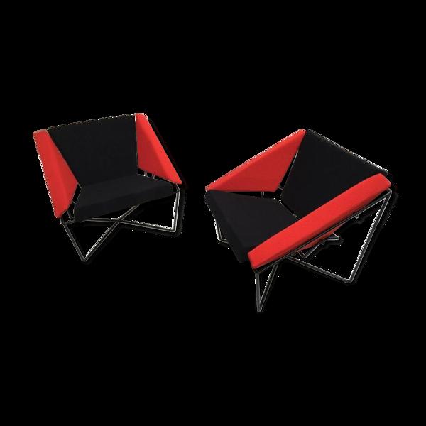 Paire de fauteuils Van Speyk par Rob Eckhardt Pays-Bas 1980s