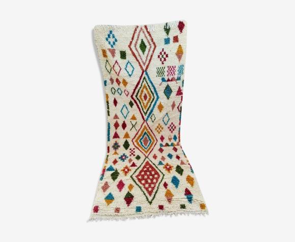Tapis coureur berbère marocain 277 x 112 cm