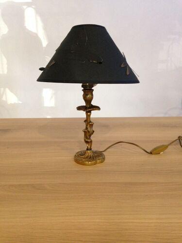 Duo de lampes bougeoirs bronze