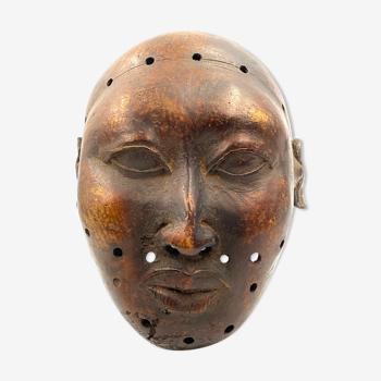 Tête de trophée d'un souverain étranger, en bronze, Royaume du Bénin, début du XXe siècle