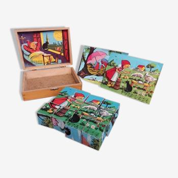 Puzzle de cubes français vintage