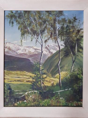 Tableau ancien huile sur toile région Savoie