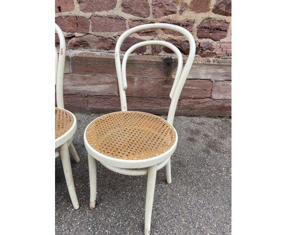 Paire de chaises en bois courbé bistrot brasserie
