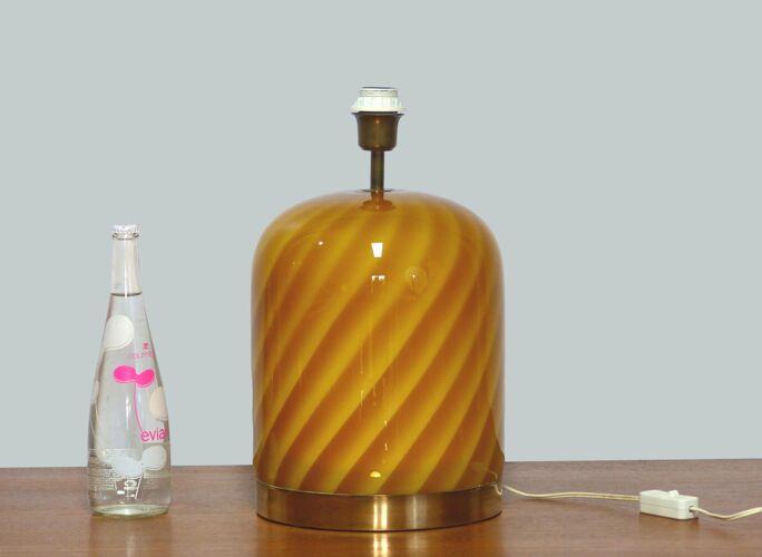 Pied de lampe Murano Tommaso Barbi 1970