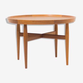 Table basse en teck ronde Sibast Møbler conçue par Arne Vodder