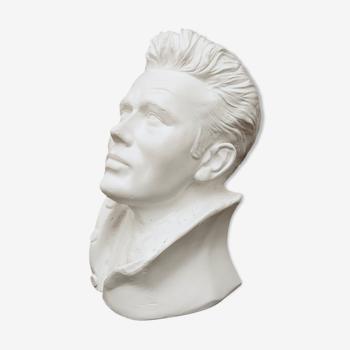 Buste sculpture homme James Dean vintage annéee 50