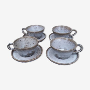 Lot de 4 tasses céramique