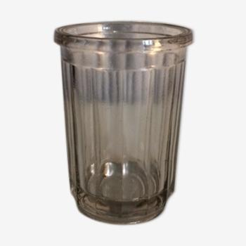 Bocal à confiture en verre  moulé
