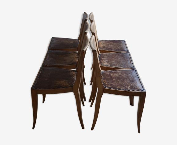 Lot de 6 chaises des années 40