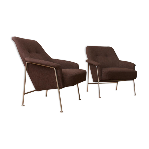 Pair of chairs 162 vintage by Theo Ruth for Artifort