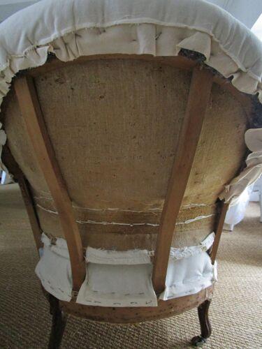 Méridienne mise au blanc avec housse crème Napoléon iii