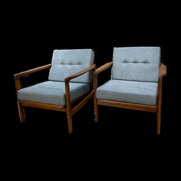 Une paire de fauteuils club par Z B?czyk vintage 60 '