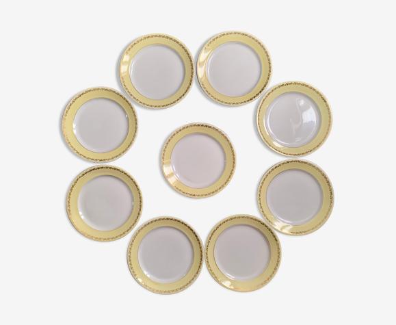 9 assiettes plates K&G Lunéville
