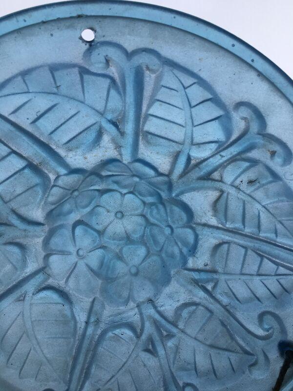Suspension pâte de verre bleu art deco Degué