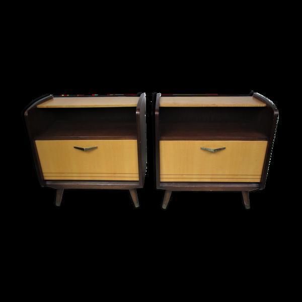 Selency Paire de tables de nuit, années 1960