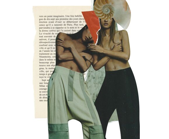 Print collage format A3. Caracol