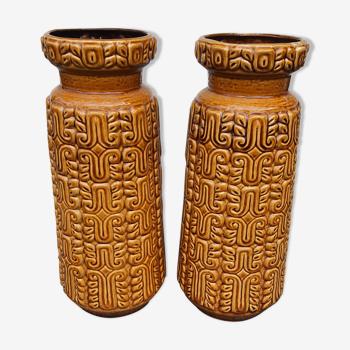 Paire vases céramique Scheurer Autriche 1970