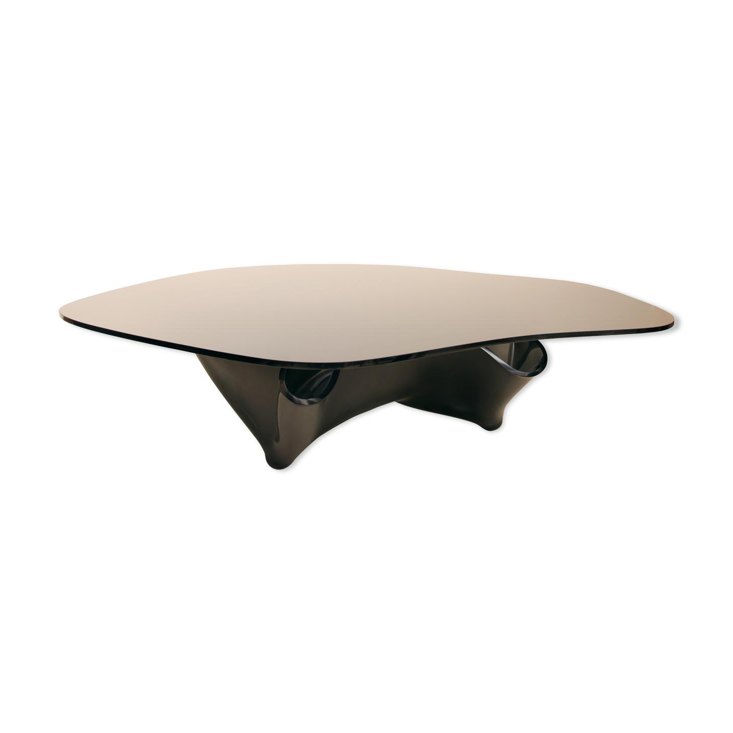 Table basse en verre noir Laurel Fyfe