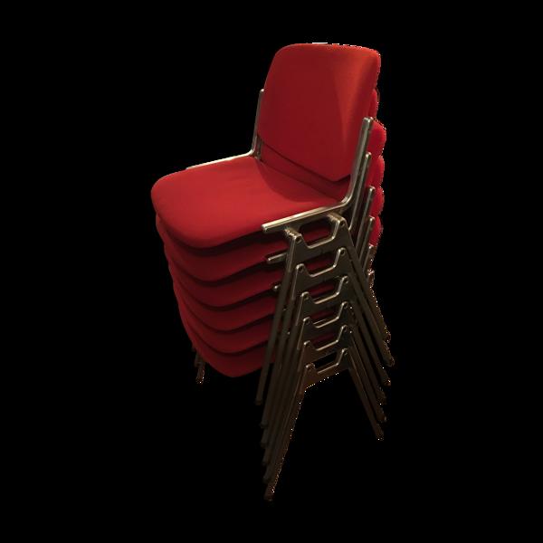 Selency Lot de 6 chaises DSC106 par Giancarlo Piretti, édition Castelli