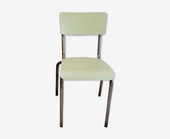 Chaise d'école vert céladon