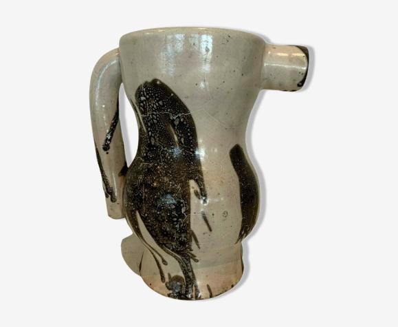Pichet décoré en céramique de Vallauris XX siècle